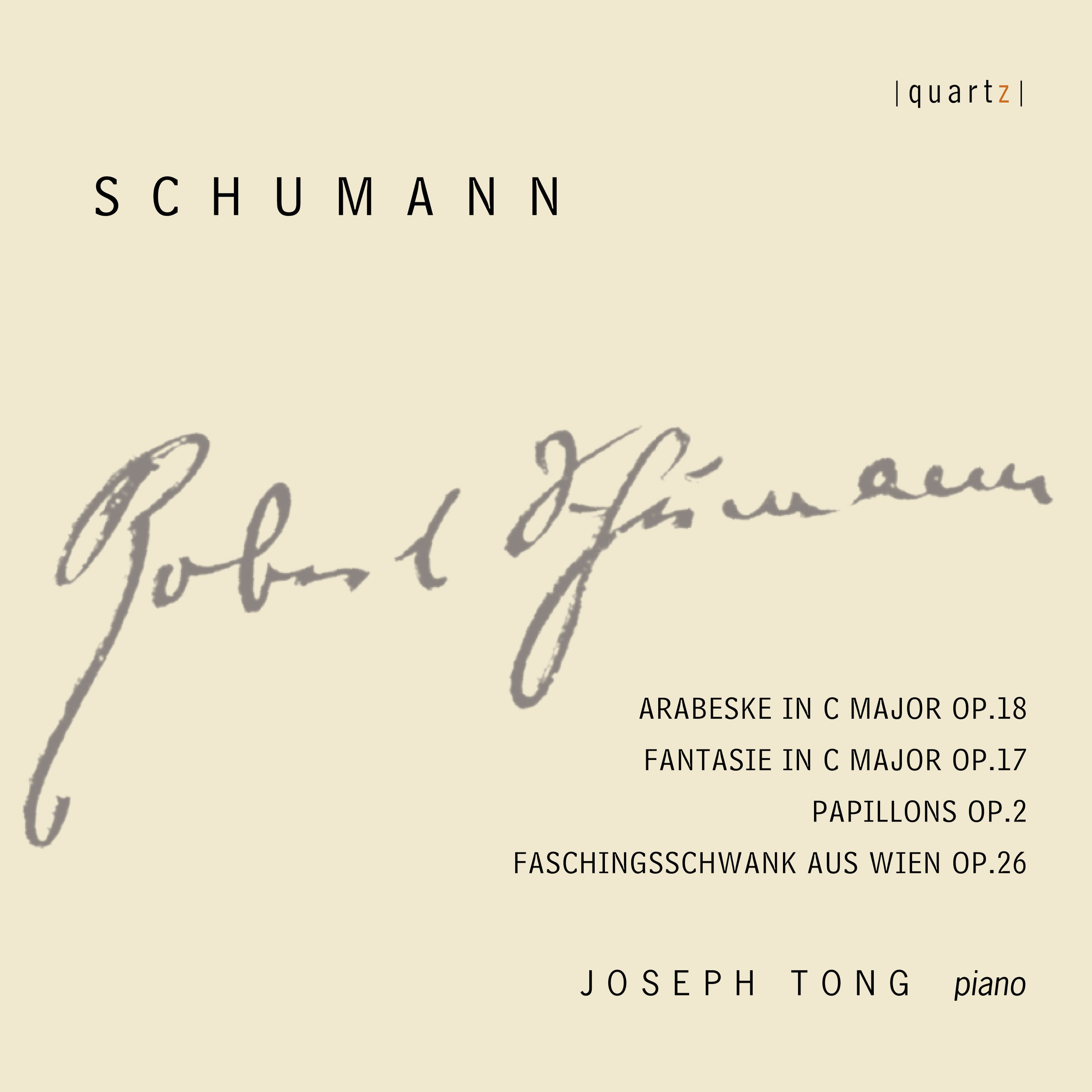 Schumann: Works for Piano Cover Art